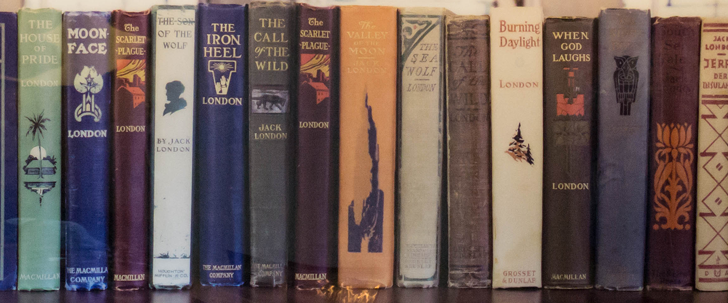 spines of books written by Jack London